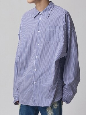 PIN STRIPE OVER SHIRT