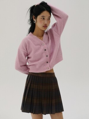 [TC19AWSK01] WOOL CHECK PLEATS SKIRT