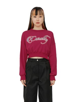 C LOGO CROPPED SWEATSHIRT_RED
