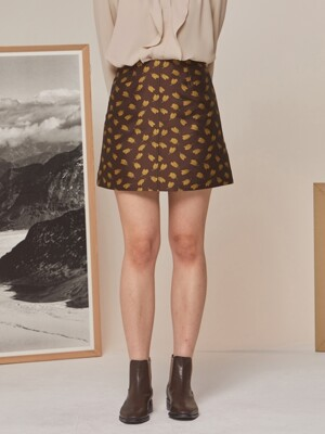 TULIP MINI SKIRT BROWN