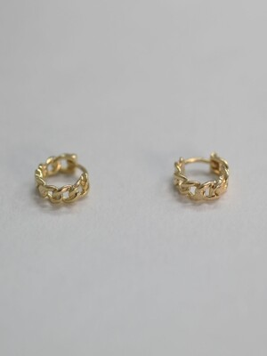 cl030 Gold chain earring