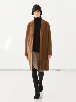WOOL SINGLE COAT_BROWN