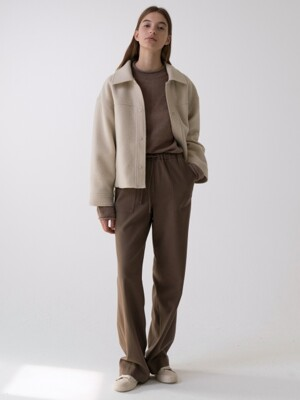 wool natural pants (brown)