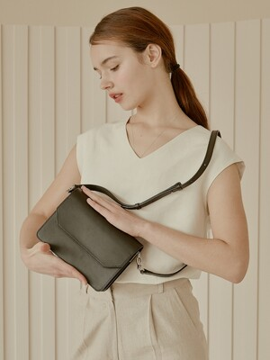 modern two-strap bag [black]