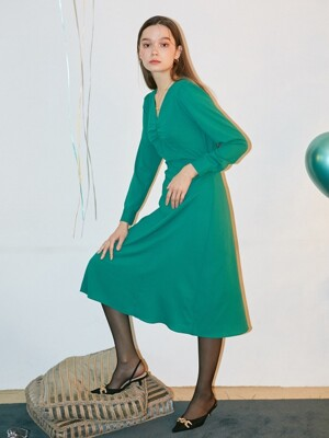 Classic Midi Dress_ Green