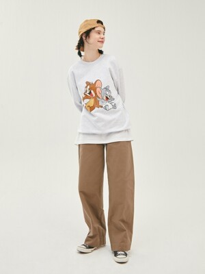 [SS20 Stereo & Jerry] Jerry & Nibbles Sweatshirts(Melange Grey)