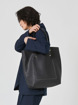 Stitch Leather Tote Bag