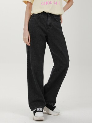 WIDE DENIM PANTS C518PT001-BK