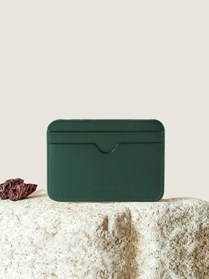 Pebble Card Wallet British Green