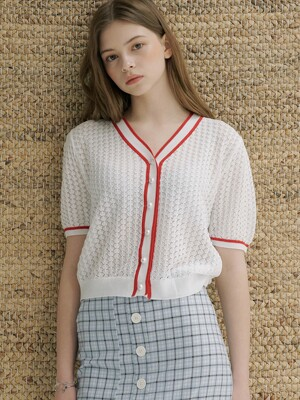 monts 1138 colourway puff-sleeve knit (white)