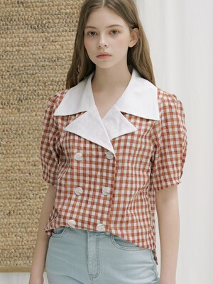 monts 1144 colourway check blouse (check)