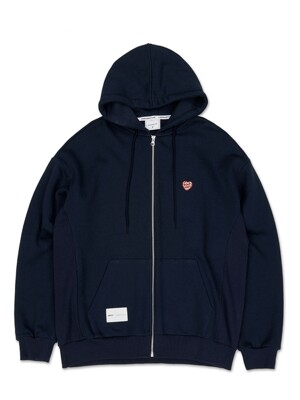 OL175_LOVE Mini Logo Hood Zipup_Navy