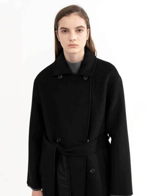 Lana double coat (BLACK)