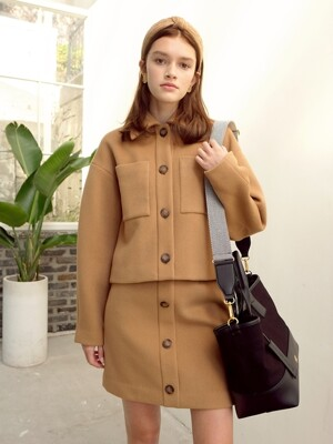 ANDREA WOOL SHORT JACKET_CAMEL