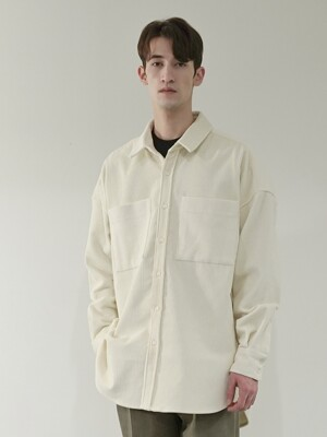 OUT-POCKET HEAVY CORDUROY SHIRT_IVORY