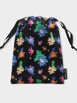 Windy flower stirng pouch m