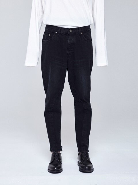 REMAKED BAGGY JEANS [BLACK]