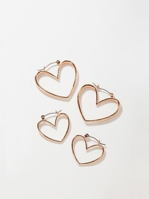 ADORABLE LOVE HOOP EARRING