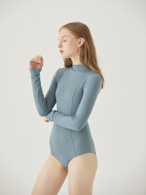 WOOL BODY SUIT [SKY BLUE]
