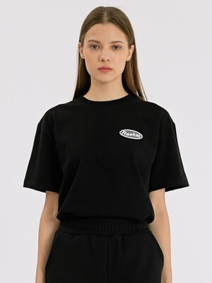 WAVE LOGO LABEL TEE / BLACK