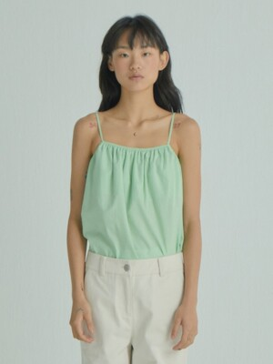 Strappy Shirring Top_Light Green