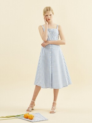 Annelle Dress_ Gingham Check