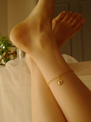 lace full heart anklet