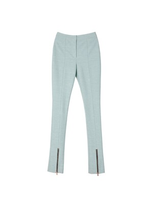 STRETCH-JERSEY ZIPPER FLARED PANTS apa343w(PALE JADE)