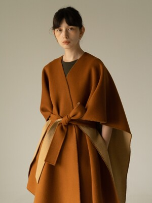 ROWE Reversible cape _camel