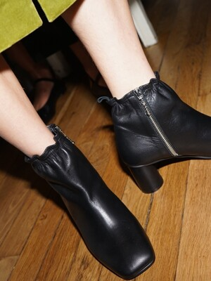 Melody Ankle Shirring Boots / YY9A-B11 Black