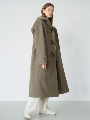 wool duffle coat (khaki)