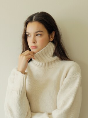 19FW CASHMERE PULLOVER / IVORY