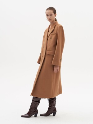 DOUBLE TAILORED COAT (camel)