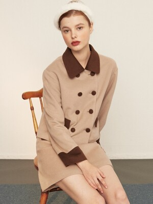 [EXCLUSIVE] double button wool jacket_brown
