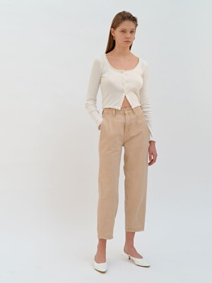 PASTEL COLOR DENIM PANTS (beige)