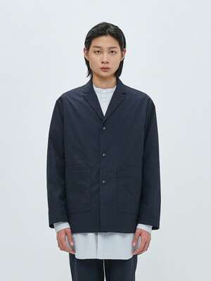 DOUBLE POCKET RELAXED BLAZER-NAVY
