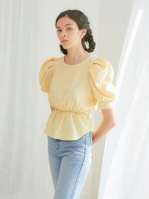 PUFF SLEEVES TIM BLOUSE_YELLOW