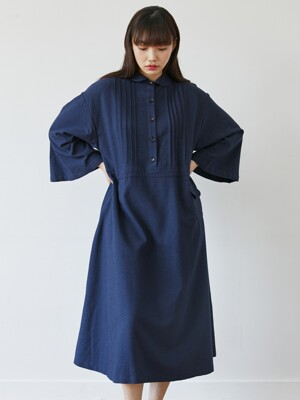 pin tuck onepiece navy