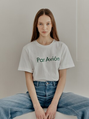 'Par Avion' LOGO T-SHIRT (JTST304-05)