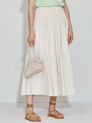 Smoking Long Skirt [Cream] JSSK0B901IV