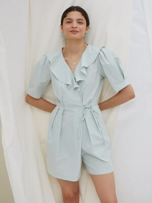 IRIS WRAP JUMPSUIT, MINT