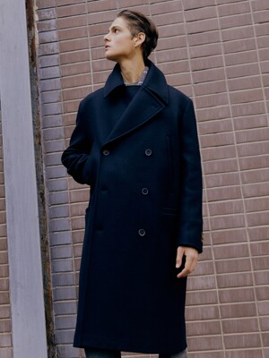 [Premium] Wool  Ulster Military Long Pea Coat