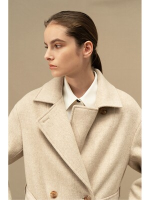 Lana double coat (OATMEAL)