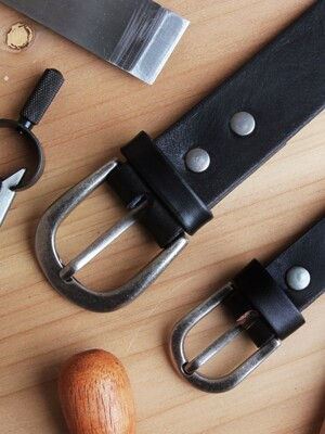 Italian Leather Belt_Black