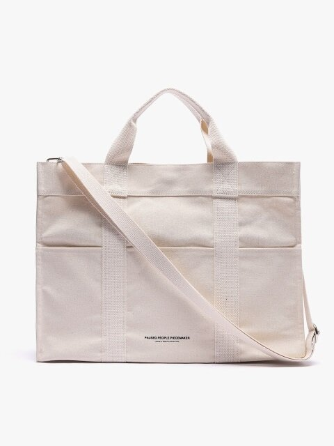 CANVAS 3WAY POCKET BAG (WHITE)