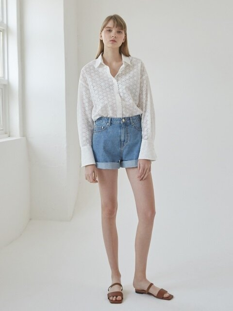 Vintage denim short pants