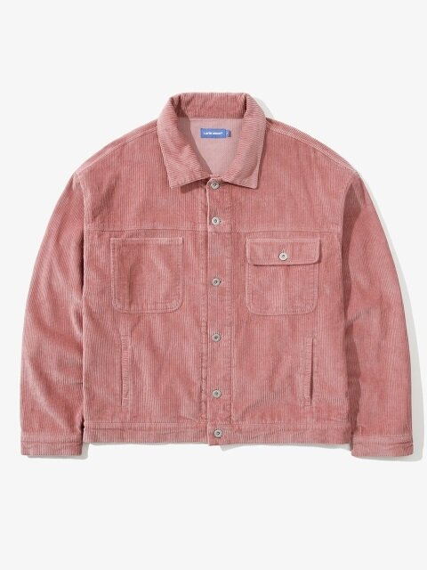 CORDUROY OVER TRUCKER JACKET PINK