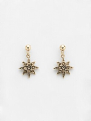 BALL ANTIQUE STAR `drop` EARRING_809E04AG