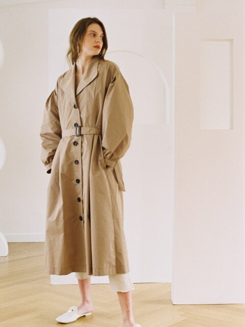 TRENCH DRESS BEIGE