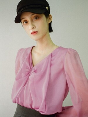 Ribbon blouse [Pink]